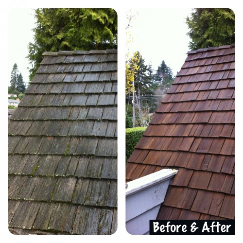Portland Cedar Shake Roof Cleaning Moss Removal Pdx